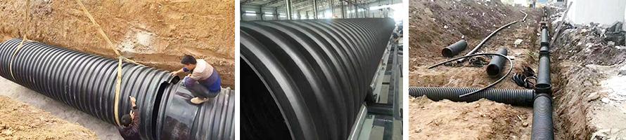 埋地排水HDPE双壁波纹管